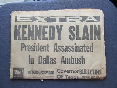 John F. Kennedy Lot Nov 22 & 23Rd Papers, Album, 4 Pins And Our Next Pres Ribbon