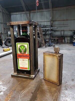 Custom made, hand made stainless steel flask, 8oz, TIG welded, brand new