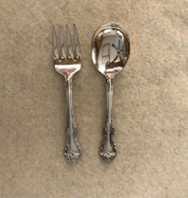 "Sterling Silver baby set, Fork & Spoon, in the ""Melbourne"" pattern by Oneida"