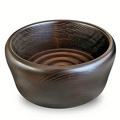 CIOTOLA SPIRALATA DA BARBA IN LEGNO HEMLOCK - TAZZA MADE IN ITALY, DIAMETRO 13cm