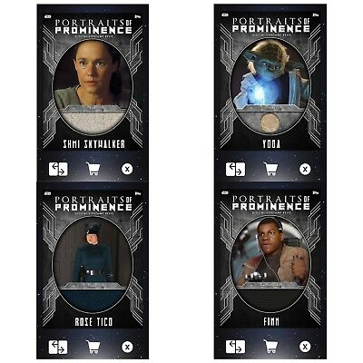 PORTRAITS OF PROMINENCE S3 RELIC SET OF 4 Topps Star Wars Card Trader Digital