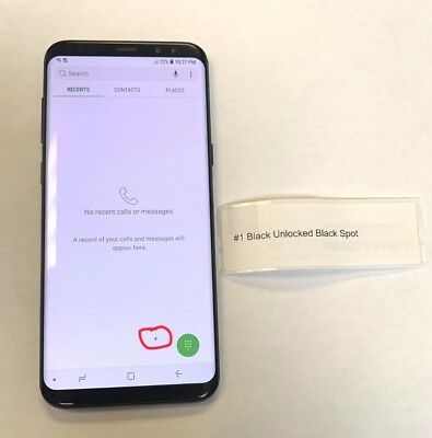 Samsung Galaxy S8+ Plus  GSM Unlocked AT&T T-Mobile Shadow Black SPOT , SEE PICS