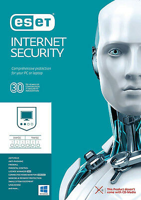 Eset Internet Security 2019 V12 1 PC / User - 2 Year! WINDOWS AND MAC