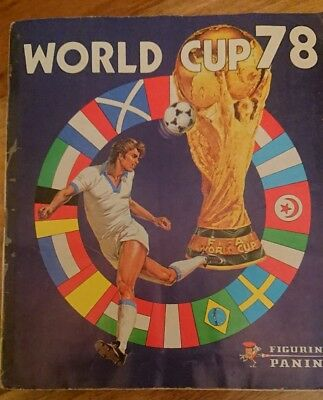 World Cup Football Album 1978 With Stickers Incomplete, figurine panini