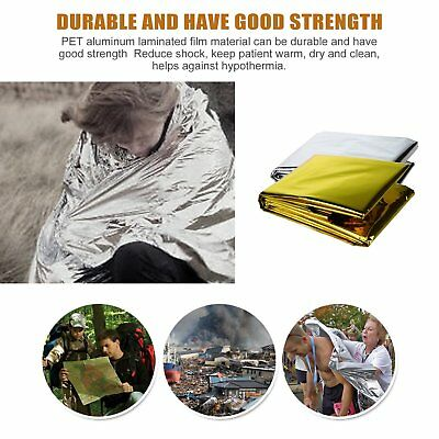 5x Space Blanket Thermal Thermo Foil Emergency Survival Camping Rescue First T2