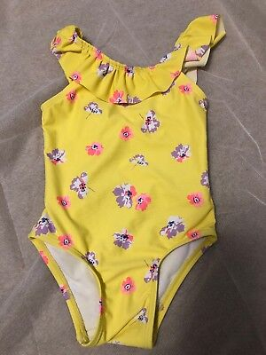 bd5e225bd465a Old Navy Toddler Girl Yellow Floral One Piece Bathing Suit Size 3t Preowned