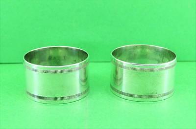 """Rare WMF N Silver Plated Napkin Rings 1.5 Times Finish  2"""" W  c 1890 -1903"""