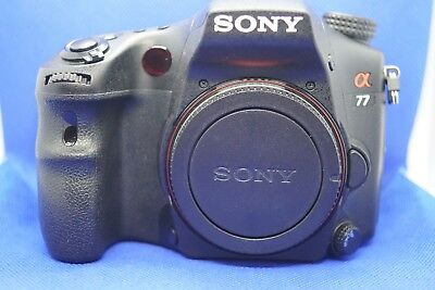Sony Alpha SLT-A77 24.3MP Digital SLR Camera - Black (Body Only)
