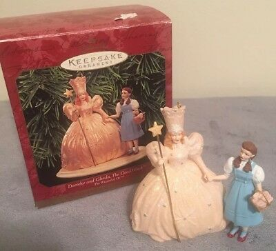 DOROTHY AND GLINDA THE GOOD WITCH NEW Hallmark Wizard of Oz Ornament 1998
