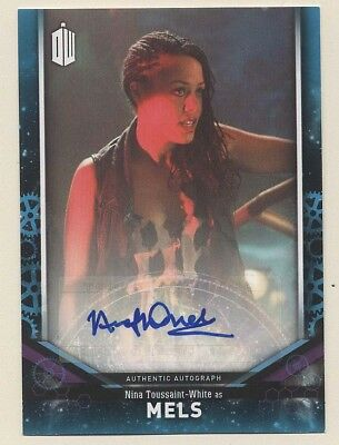 2018 Doctor Who Signature Series Nina Toussant-White MELS 02/25 Autograph TOPPS