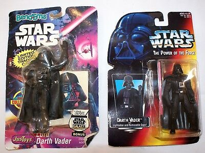 Star Wars The Power of the Force & BendEms Lot of 2 Darth Vader
