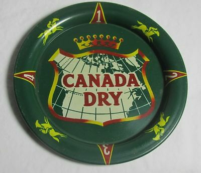 Vintage Canada Metal Bar Tip Tray Game tray with Spinner bottom RARE