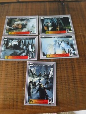 Australia Dynamic Batman Returns Movie 5 x Cards No124, 129, 130,132, 134