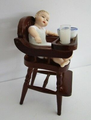 1:12 scale Heidi Ott dollhouse 2.75 inch toddler in high chair