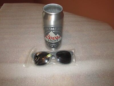Coors Light Beer can The Silver Bullet with promo sunglasses
