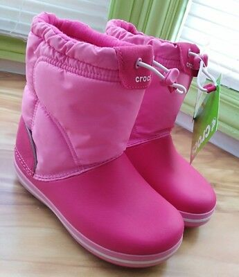 CROCS 14613 GIRLS Winter Puff Toddler Quilted Snow Boots Pink 8(B ... 3a28bb376fc