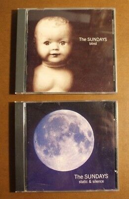 Lot of Two CDs from The Sundays: Blind & Static and Silence