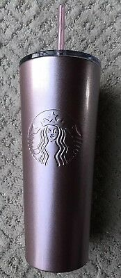 New Starbucks 2019 Spring Rose Gold Pink Metallic Travel Tumbler Stainless 24oz