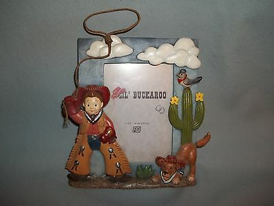 Lil Buckaroo Western Southwest Cowboy Picture Frame