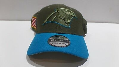 reputable site eb57f 6d737 closeout new era carolina panthers 2017 olive salute to service 39thirty  nfl hat s m 5960f 170dd