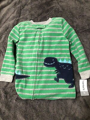32256fa7b NWT CARTERS BOYS Dinosaur Footie Pajamas Fleece Size 3t -  2.99 ...