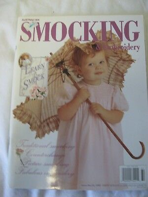 AUST AS&E SMOCKING EMBROIDERY MAGAZINE #32 Counterchange Picture Learn to smock