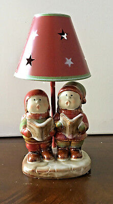 Yankee Candle Caroling Kids Christmas Tea Light Lamp Ronnie Walter NEW
