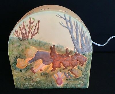 Classic Winnie The Pooh Night Light Pooh Stuck in a Hole Made by Charpente NIB