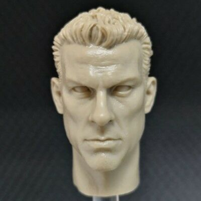 """Custom blank Hot 1//6 scale Head Sculpt unpainted For 12/"""" Hot Toys Figure AW#C1"""