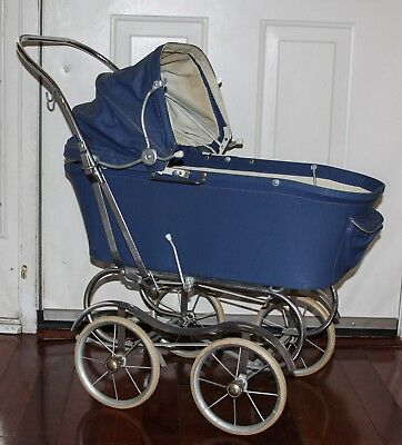 Blue Vintage Doll / Carriage / Pram / Stroller / Baby Photography Prop Display