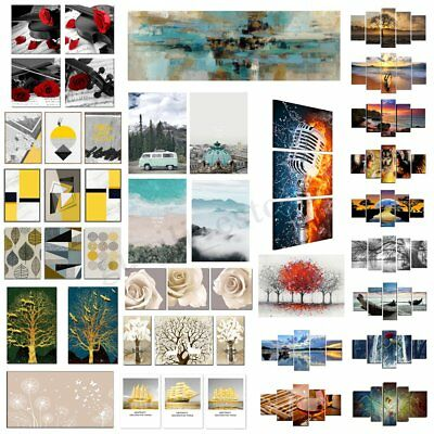 Unframed Canvas Print Paintings Pictures Home Wall Art Decor 1/2/3/4/5 Pcs Set
