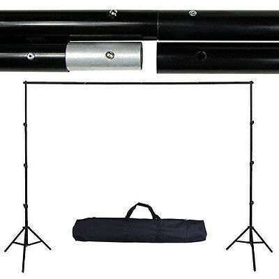 2.6x3M 10Ft Collapsible Background Support Kit Stand Photo Backdrop Crossbar Kit