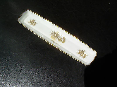 Hammersley Co. Golden Glory Bone China Olive Tray Made in England Gold Trim