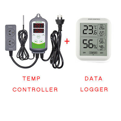 Inkbird ITC-308 Temperature Controller thermostat + Temp Humidity Data Logger AU