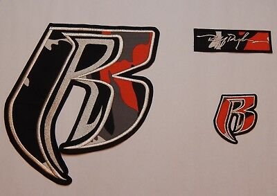 Ruff Ryder 100% Textile Applique/Patch Set of 3 - FREE Shipping