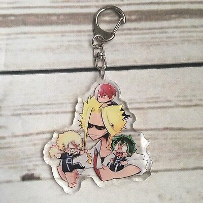 My Hero Academia Anime Boku no Hero Acrylic Keychain Keyring All Might Yagi AUS
