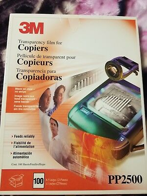 3M Transparency Film For Copiers. PP2500. Count 80+.  8.5 X 11 inches