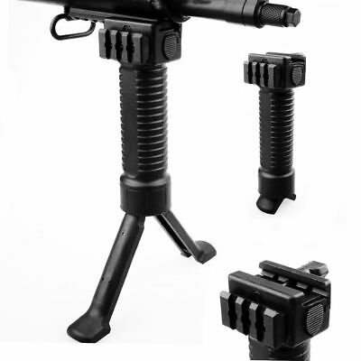 BLACK Grip Pod Military Issue Tactical Fore Grip Bipod 20mm Weaver Rail Mount