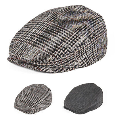 Baby Kid Boys Ivy Cap Vintage Stripes Herringbone Newsboy Cap Gatsby Beret Hats
