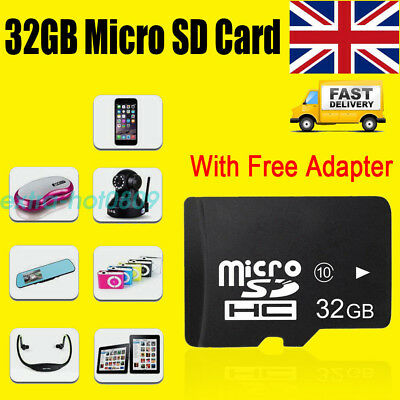 32GB Micro SD Card Class 10 SDHC memory Card + Free Adapte For Phones Camera Hot