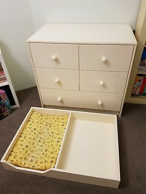 Change table chest of drawers 2 piece custom made