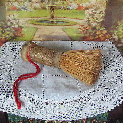 Antique STRAW TEA BRUSH Sweeper Bamboo? Early 1900s 20s 40s Chinese Asian Woven