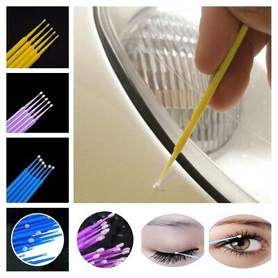 100-Brushes Touch Up Paint Micro Brush Large/Small Tips 1.0 mm Micro Applicators