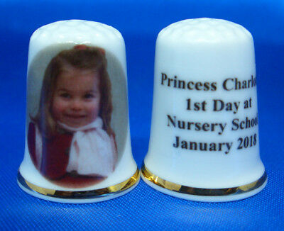 Birchcroft Porcelain China Thimble -  Princess Charlotte 1St Day At School