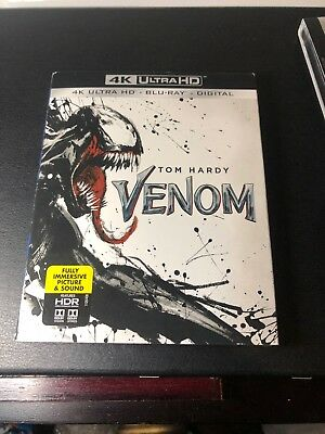 -NEW- Venom 4K w/ Slip Cover (Blu Ray / Ultra HD, 2018)