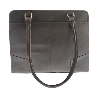 Piel Leather Women's   Hardside Shoulder Tote 2770 Chocolate Leather Size OSFA