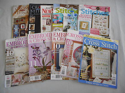Bulk Lot of Cross Stitch Magazines - Jill Oxton, Mary Hickmott and more