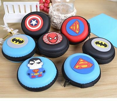 SUPERHERO Zip Silicon Coin Purse woman boys girls children Party bags AU