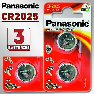 3 x Panasonic CR2032 3V Lithium Coin Cell Battery DL BR 2032 Batteries Exp 2027