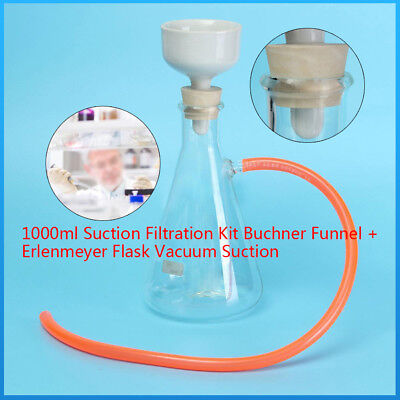 1000ml Buchner Funnel Vacuum suction filter kit for lab filtration equipment US